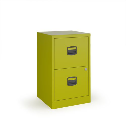 Bisley A4 home filer with 2 drawers - green