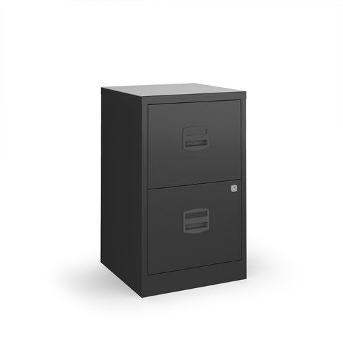 Bisley A4 home filer with 2 drawers - black