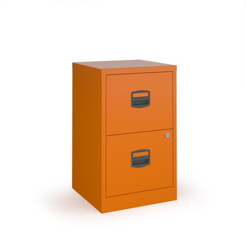 Image for Bisley A4 home filer with 2 drawers - orange