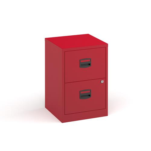 Image for Bisley A4 home filer with 2 drawers - red