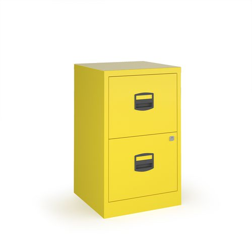 Image for Bisley A4 home filer with 2 drawers - yellow
