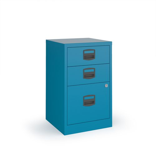 Image for Bisley A4 home filer with 3 drawers - blue