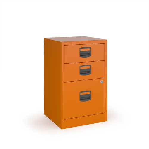 Image for Bisley A4 home filer with 3 drawers - orange