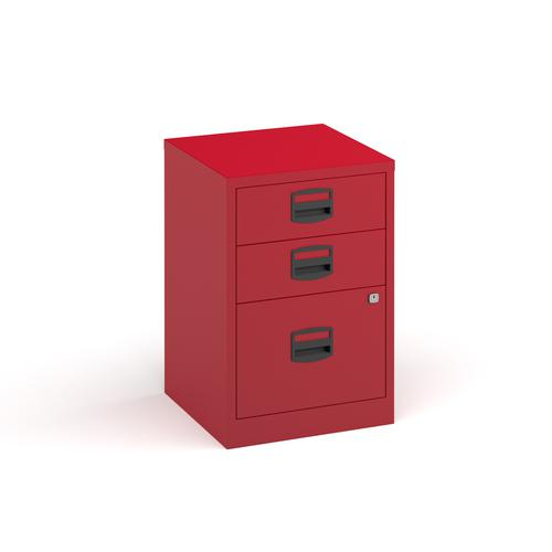 Image for Bisley A4 home filer with 3 drawers - red