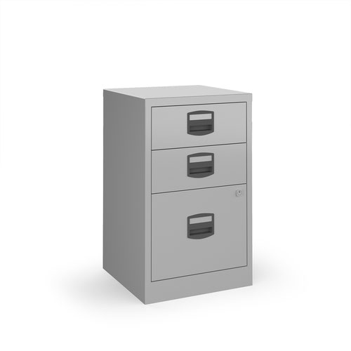 Image for Bisley A4 home filer with 3 drawers - silver