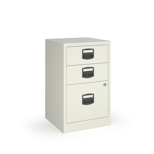 Bisley A4 home filer with 3 drawers - white