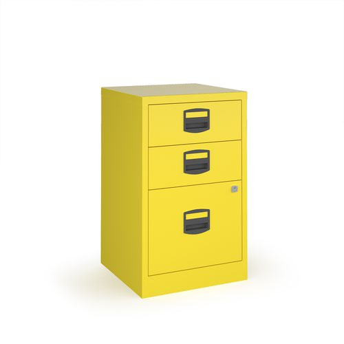 Image for Bisley A4 home filer with 3 drawers - yellow