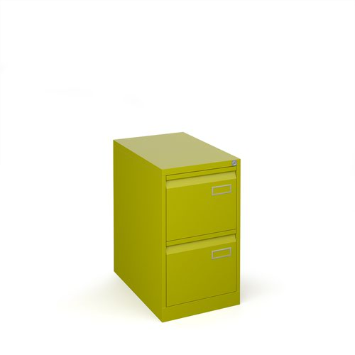 Bisley steel 2 drawer public sector contract filing cabinet 711mm high - green