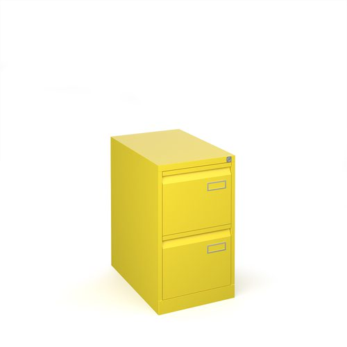 Image for Bisley steel 2 drawer public sector contract filing cabinet 711mm high - yellow