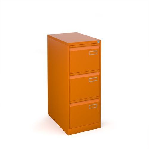 Image for Bisley steel 3 drawer public sector contract filing cabinet 1016mm high - orange
