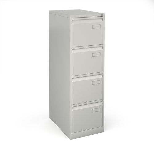 Image for Bisley 4 drawer contract filing cabinet 1321mm high - goose grey