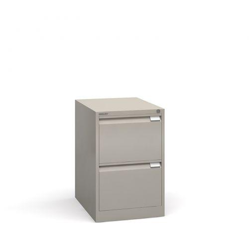 Bisley 2 drawer BS filing cabinet 711mm - goose grey