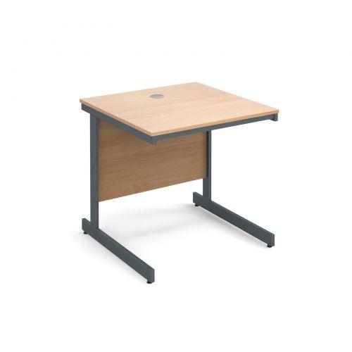 Maestro cantilever leg straight desk 754mm - beech