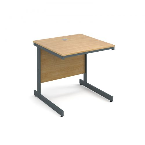 Maestro cantilever leg straight desk 754mm - oak