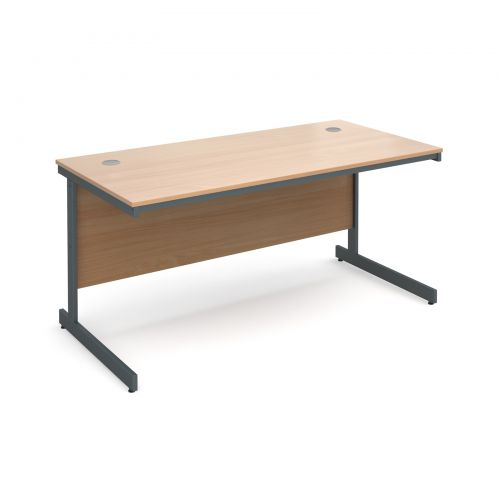 Maestro cantilever leg straight desk 1532mm - beech