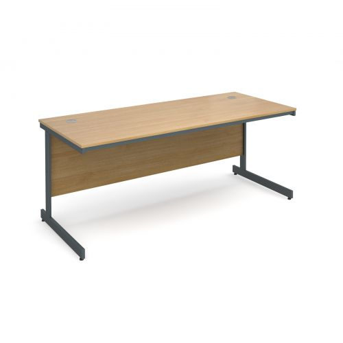 Maestro cantilever leg straight desk 1786mm - oak