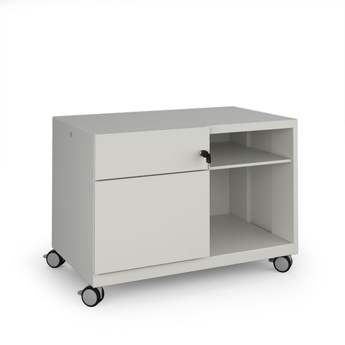 Image for Bisley steel caddy left hand storage unit 800mm - goose grey