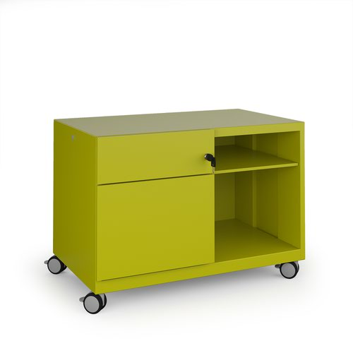 Image for Bisley steel caddy left hand storage unit 800mm - green