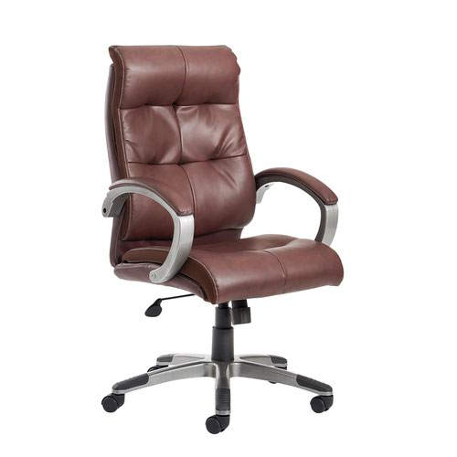 Image for Catania high back managers chair - brown leather faced