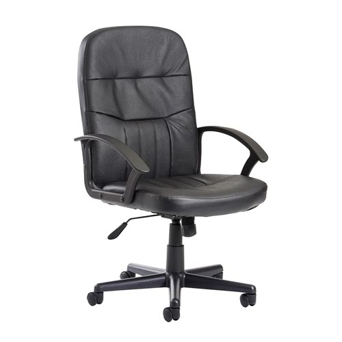 SO- - Cavalier high back managers chair - black leather faced