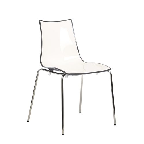 Image for Gecko shell dining stacking chair with anthracite legs - anthracite