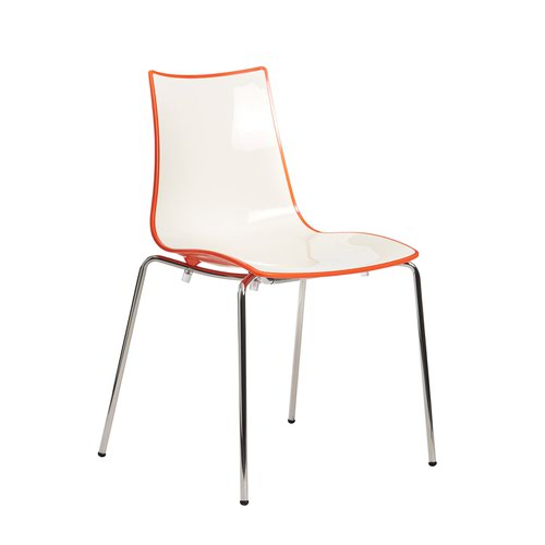 Image for Gecko shell dining stacking chair with anthracite legs - orange