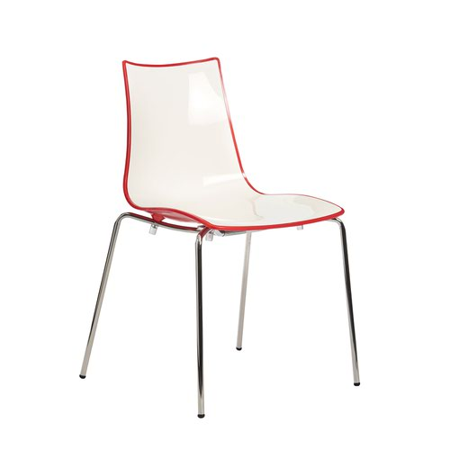 Image for Gecko shell dining stacking chair with anthracite legs - red