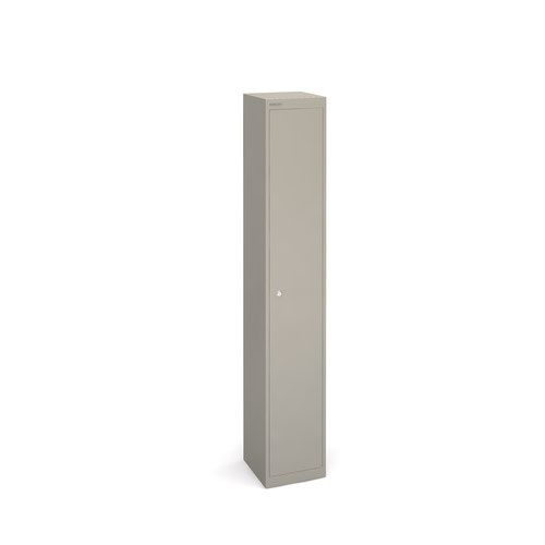 Image for Bisley lockers with 1 door 305mm deep - grey