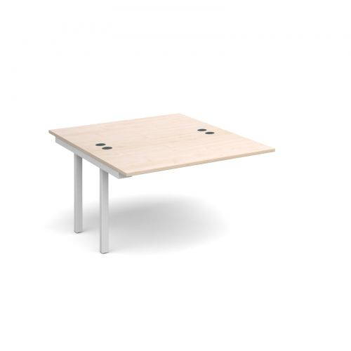 Connex add on units back to back 1200mm x 1600mm - white frame and maple top