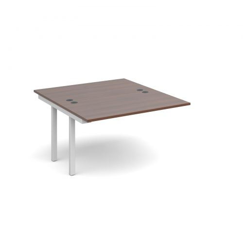 Connex add on units back to back 1200mm x 1600mm - white frame, walnut top