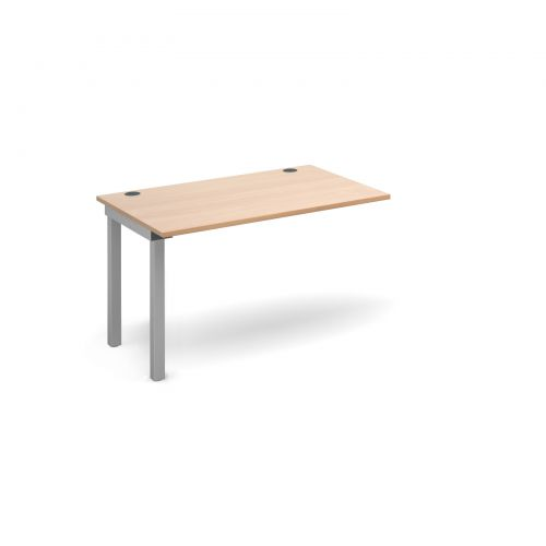 Image for Connex add on unit single 1200mm x 800mm - silver frame and beech top