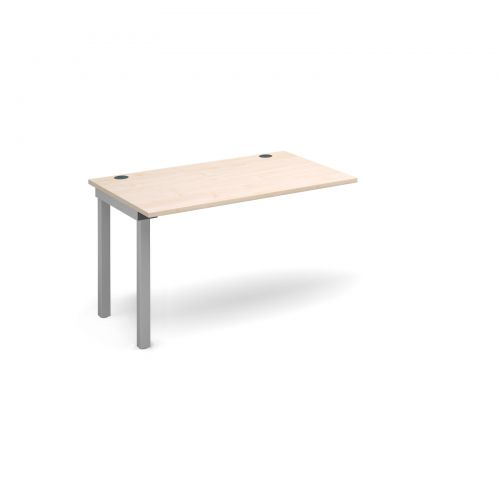 Image for Connex add on unit single 1200mm x 800mm - silver frame and maple top