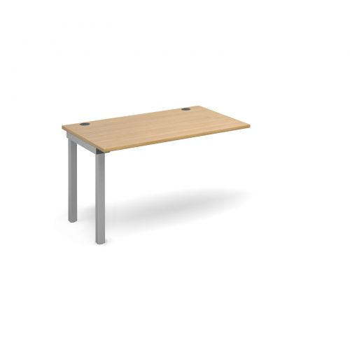 Image for Connex add on unit single 1200mm x 800mm - silver frame and oak top