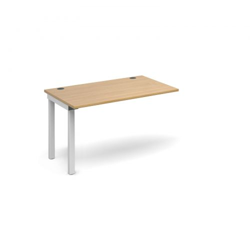 Connex add on unit single 1200mm x 800mm - white frame, oak top