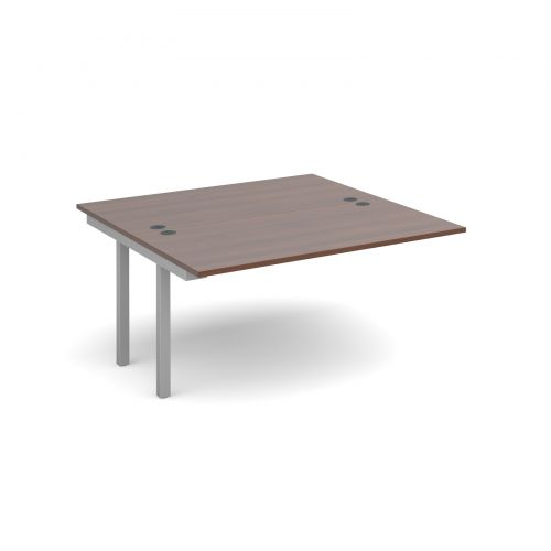 Connex add on units back to back 1400mm x 1600mm - silver frame and walnut top