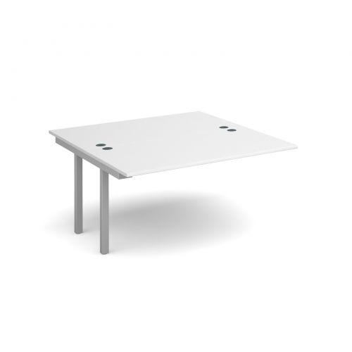 Connex add on units back to back 1400mm x 1600mm - silver frame, white top