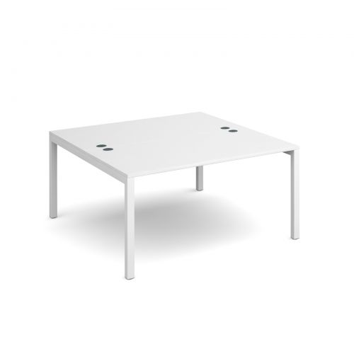 Connex starter units back to back 1400mm x 1600mm - white frame and white top