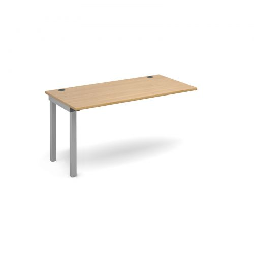 Connex add on unit single 1400mm x 800mm - silver frame and oak top