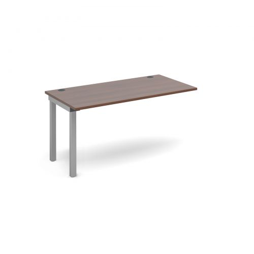 Connex add on unit single 1400mm x 800mm - silver frame and walnut top
