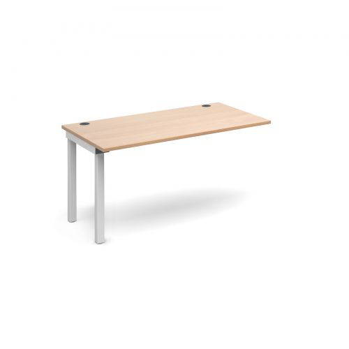 Connex add on unit single 1400mm x 800mm - white frame and beech top