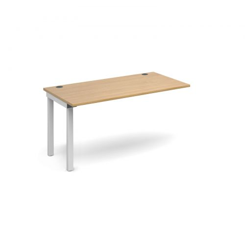 Image for Connex add on unit single 1400mm x 800mm - white frame and oak top