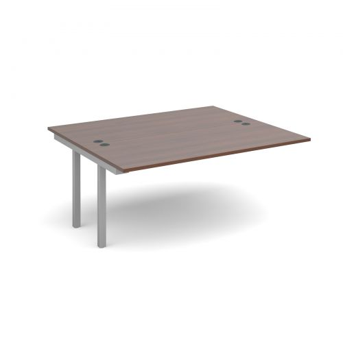 Connex add on units back to back 1600mm x 1600mm - silver frame, walnut top