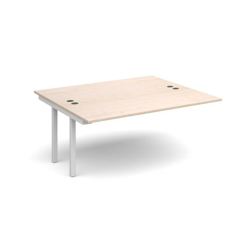 Connex add on units back to back 1600mm x 1600mm - white frame and maple top