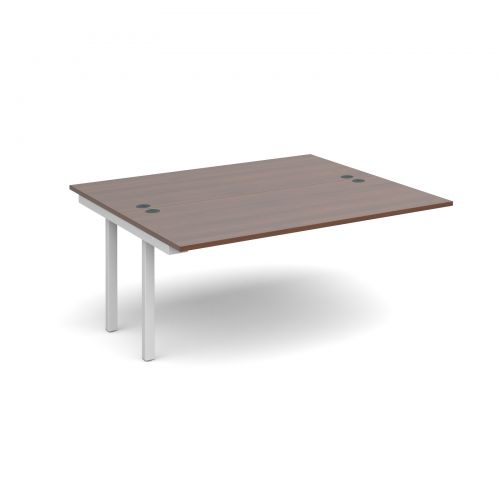 Connex add on units back to back 1600mm x 1600mm - white frame, walnut top
