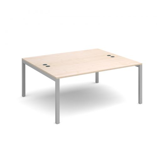 Connex starter units back to back 1600mm x 1600mm - silver frame and maple top
