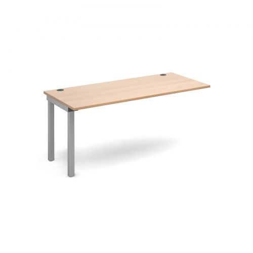 Connex add on unit single 1600mm x 800mm - silver frame and beech top