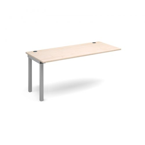 Connex add on unit single 1600mm x 800mm - silver frame and maple top