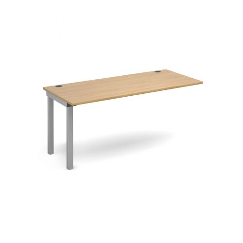 Connex add on unit single 1600mm x 800mm - silver frame, oak top