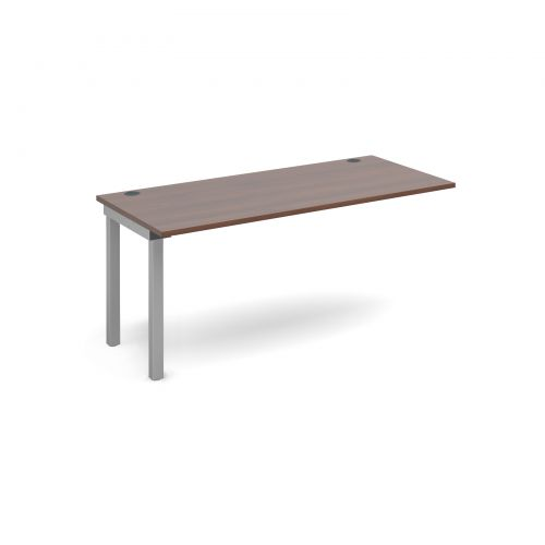 Image for Connex add on unit single 1600mm x 800mm - silver frame and walnut top