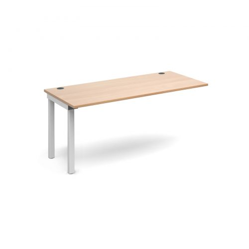 Connex add on unit single 1600mm x 800mm - white frame and beech top